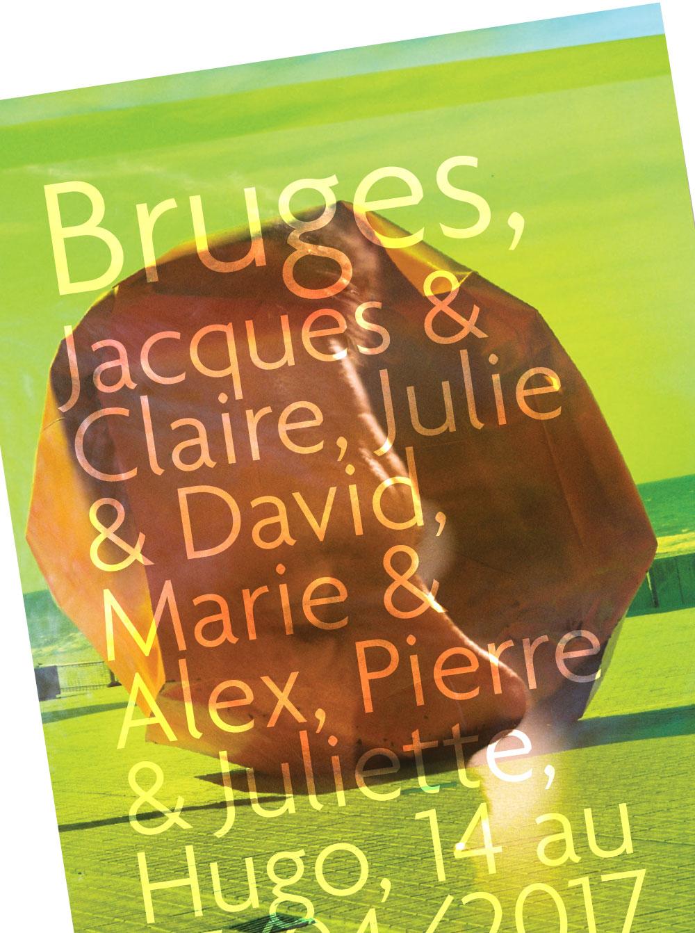 Bruges, livre d'artiste de Claire Jolin, production Les Editions Oange Claire