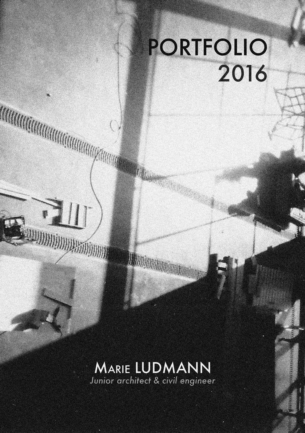 Portfolio 2016 de Marie Ludmann architecte, production Les éditions Orange Claire
